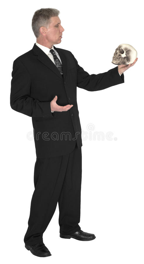 Businessman Shakespeare Hamlet Isolated stock images
