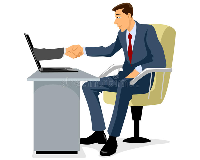 Businessman shaking hand royalty free illustration