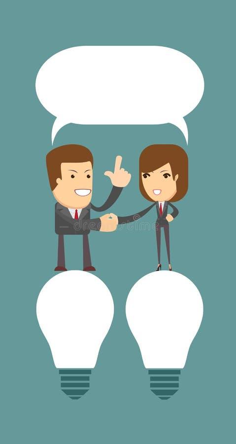 Businessman shaking hands vector illustration
