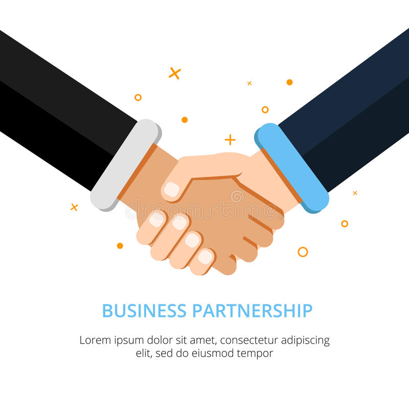 Businessman Shaking Hands. Vector Illustration In Flat ...