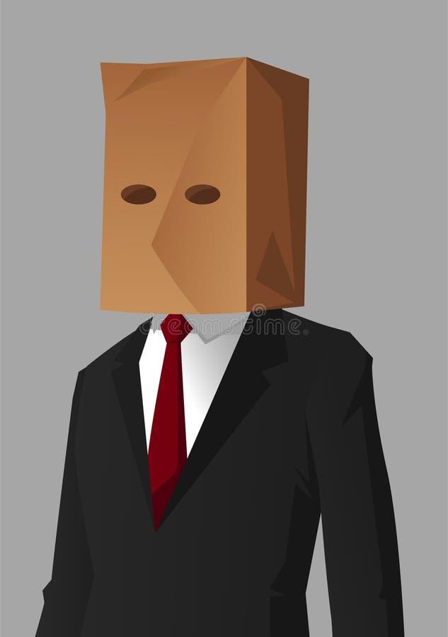 Businessman shame. Hiding Impostor illustration royalty free illustration