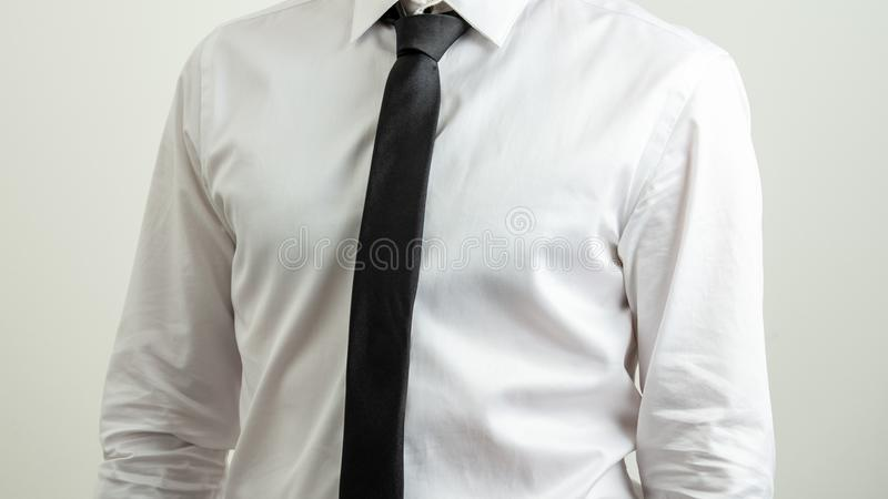 Businessman in shirt and tie royalty free stock photo