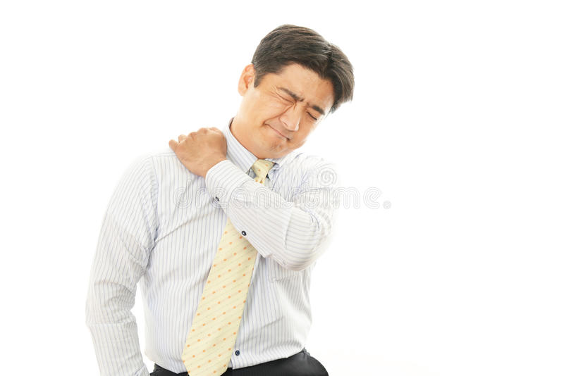 Download Businessman With Shoulder Pain. Stock Image - Image of background, company: 39507573