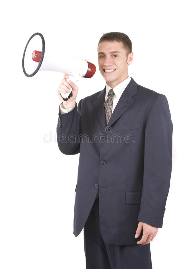 Download Businessman Shouting stock photo. Image of finance, businesspeople - 12455752