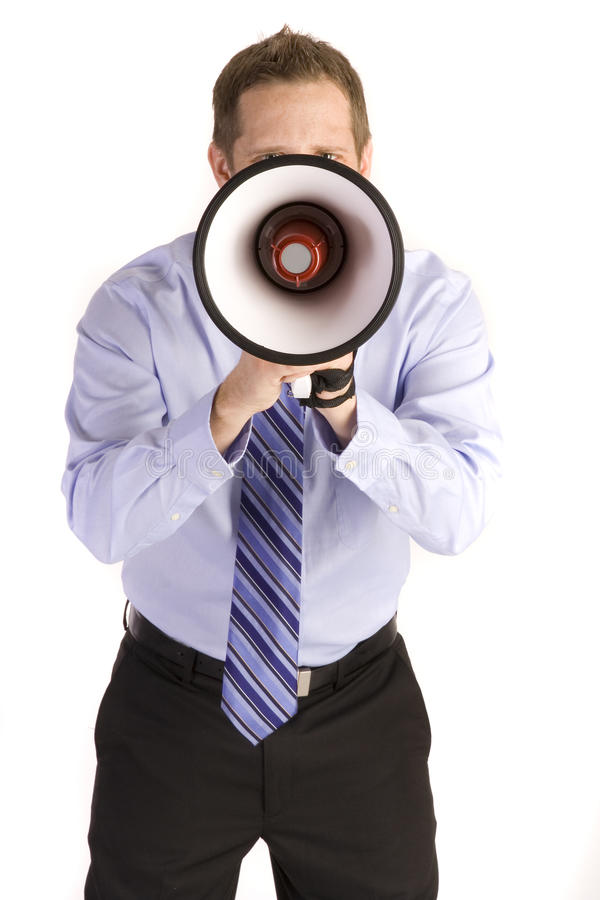Download Businessman Shouting stock image. Image of executive - 12546997