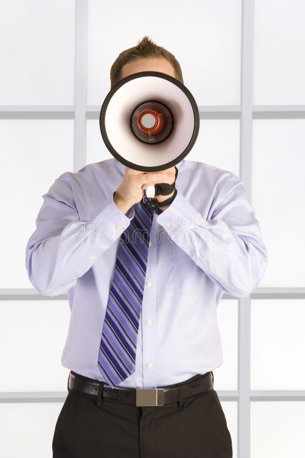 Download Businessman Shouting stock image. Image of male, message - 13092451