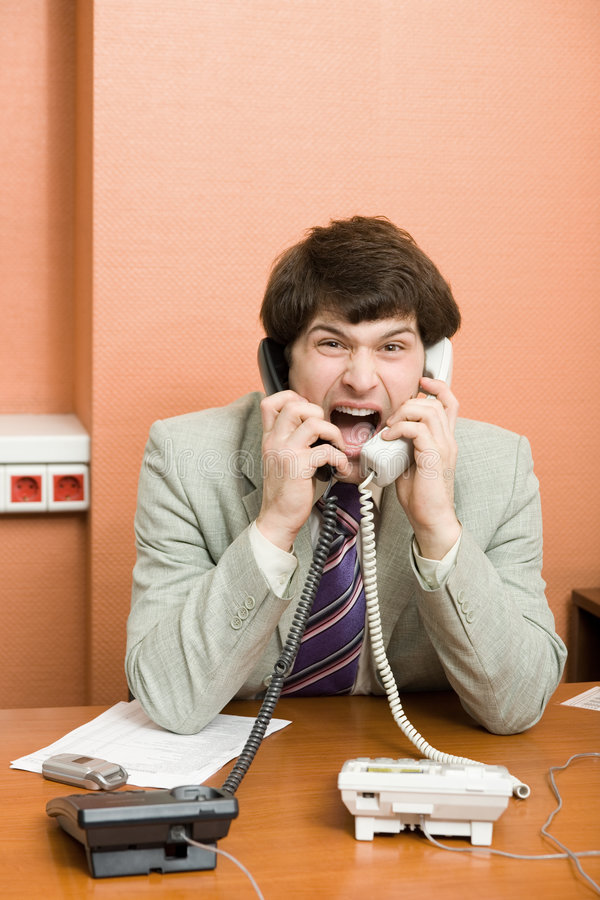 Download Businessman shouting stock photo. Image of businessman - 2190486