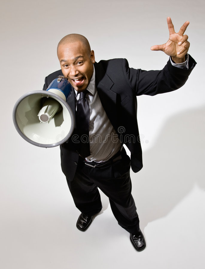 Download Businessman Shouting Into Megaphone Royalty Free Stock Photos - Image: 6601998