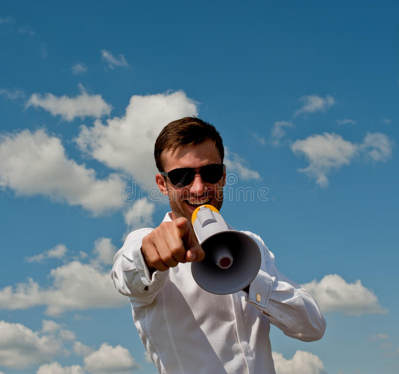 Download Businessman Shouts Royalty Free Stock Photography - Image: 17939017