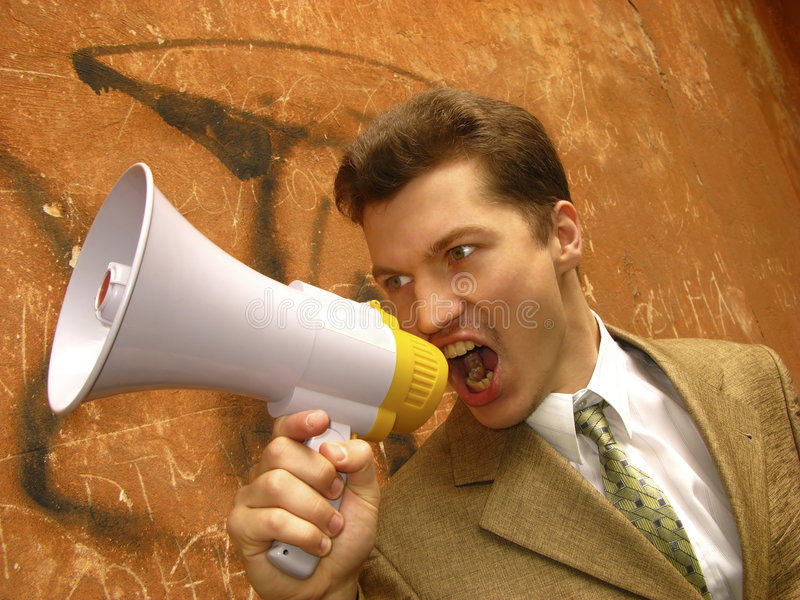 Download Businessman shouts stock image. Image of message, employee - 5109261