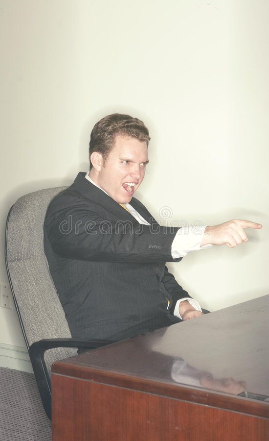 Businessman shouts with success royalty free stock images