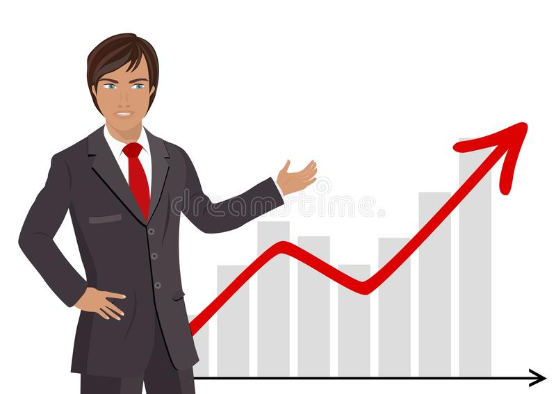 Download Businessman Showing Chart stock vector. Image of confident - 27338465