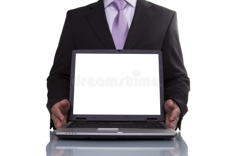 Businessman showing data royalty free stock image