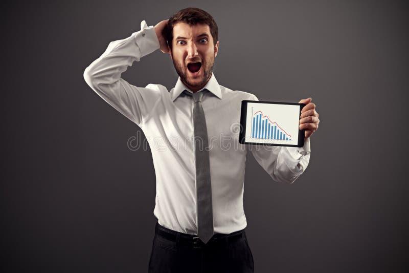 Download Businessman showing graph stock photo. Image of bankrupt - 30414634