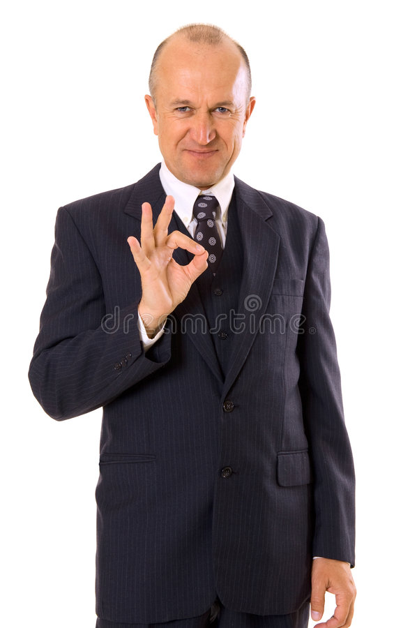 Download Businessman Showing Ok Sign Stock Photo - Image: 5199204