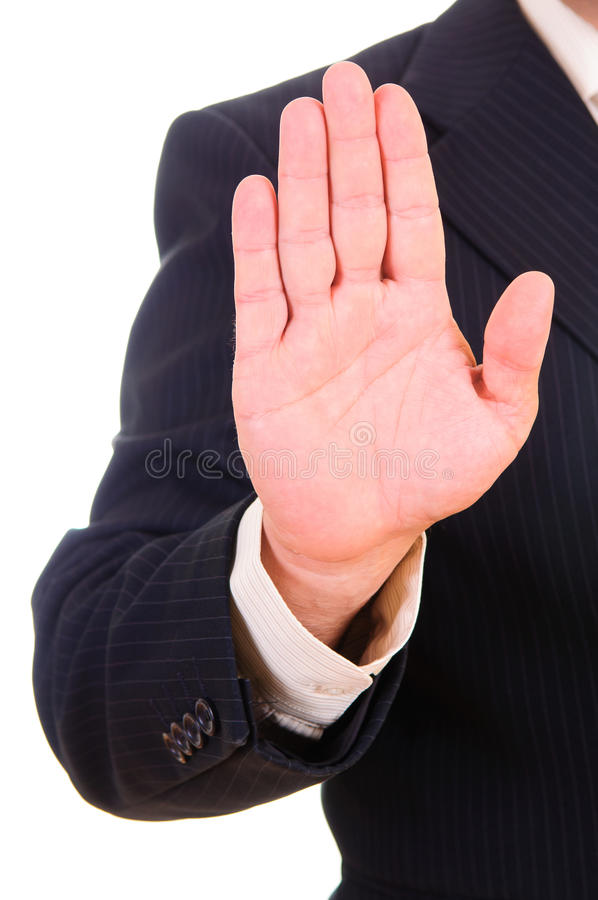 Download Businessman Showing STOP Stock Photos - Image: 26418753