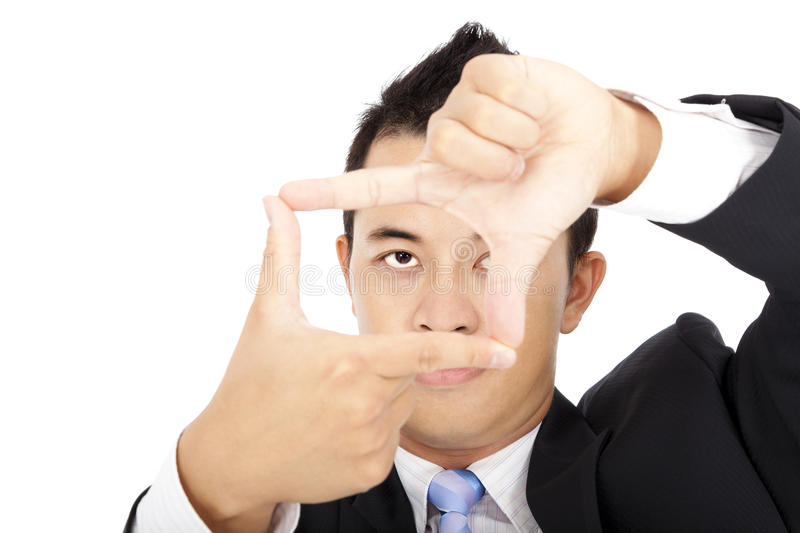 Download Businessman Showing Thinking Outside The Square Stock Images - Image: 21386144