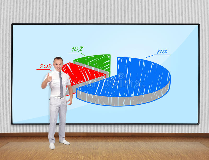 Businessman Showing Thumb Up Stock Photo