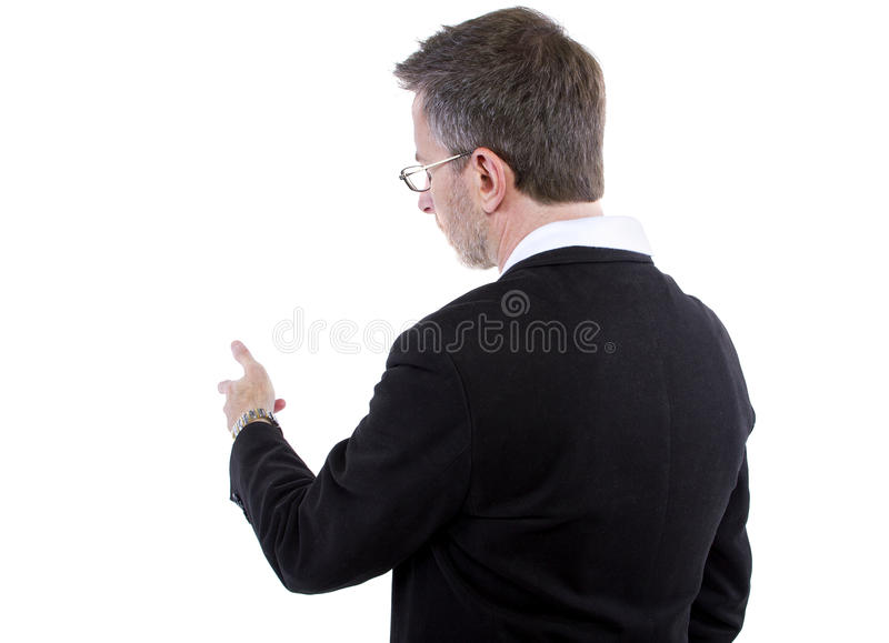 Businessman Side View for Composites royalty free stock photography