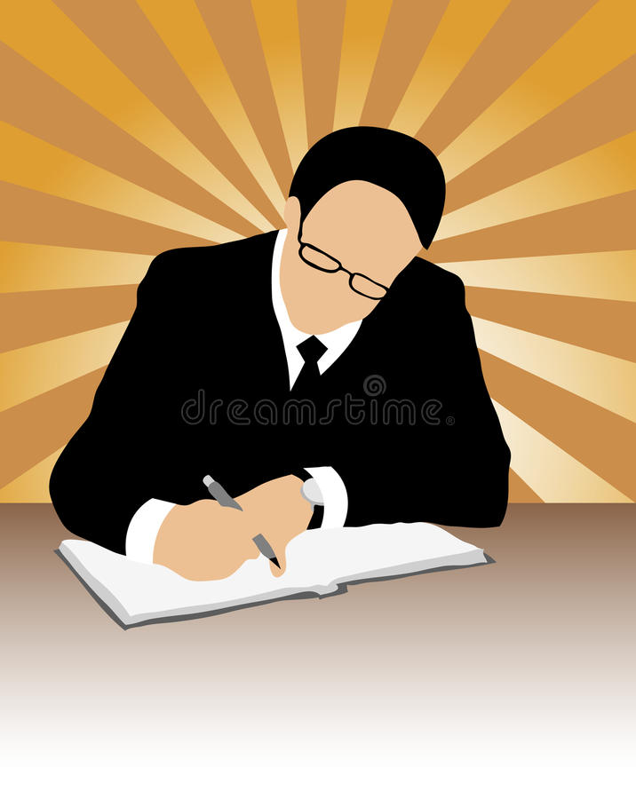 Download Businessman Signing A Contract Royalty Free Stock Photography - Image: 15916837