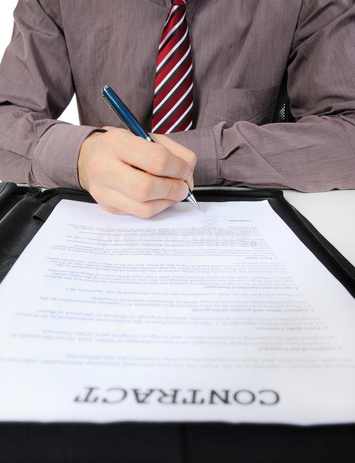 Download Businessman Signs A Contract Stock Photo - Image: 17502114