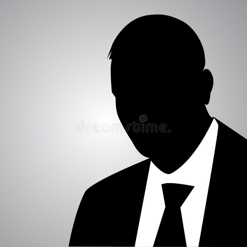 Businessman silhouette stock illustration
