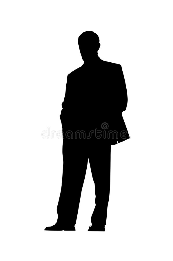 Businessman silhouette royalty free stock photos
