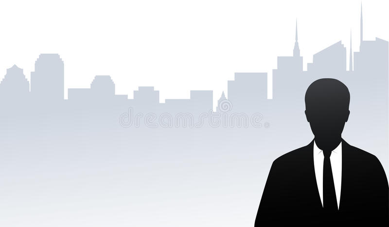 Download Businessman Silhouette On City Background Stock Vector - Image: 28939242