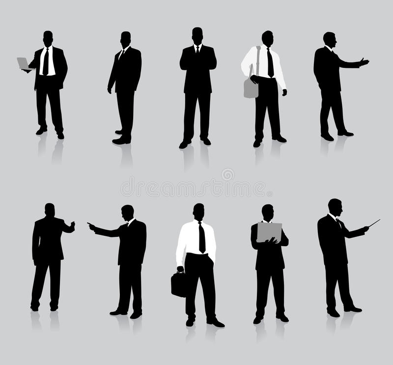 Free Businessman Silhouette Collection Stock Image - 12329871