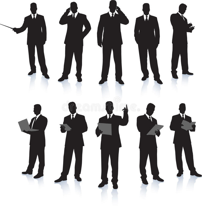 Free Businessman Silhouette Collection Royalty Free Stock Image - 12329876