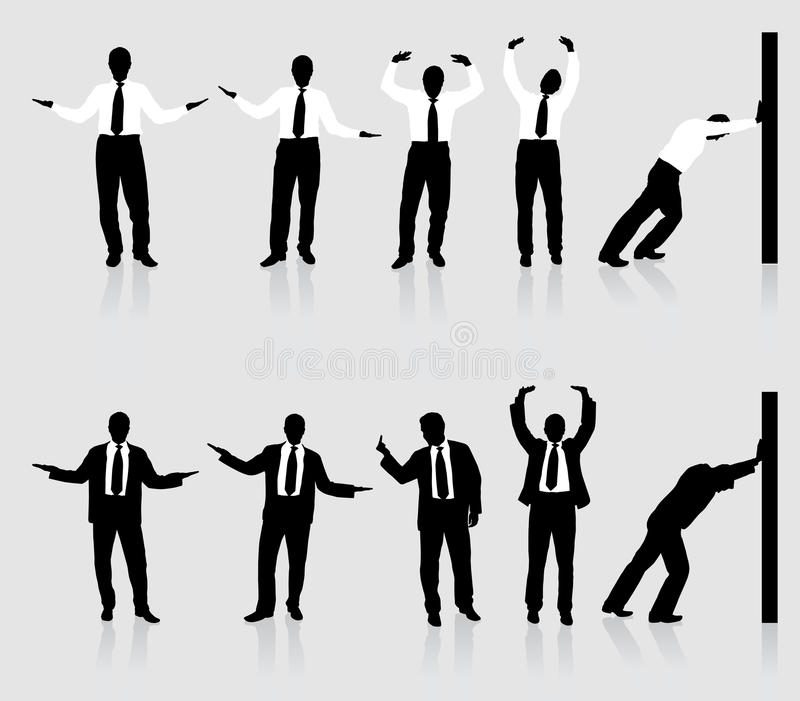 Businessman Silhouette Collection Stock Photo