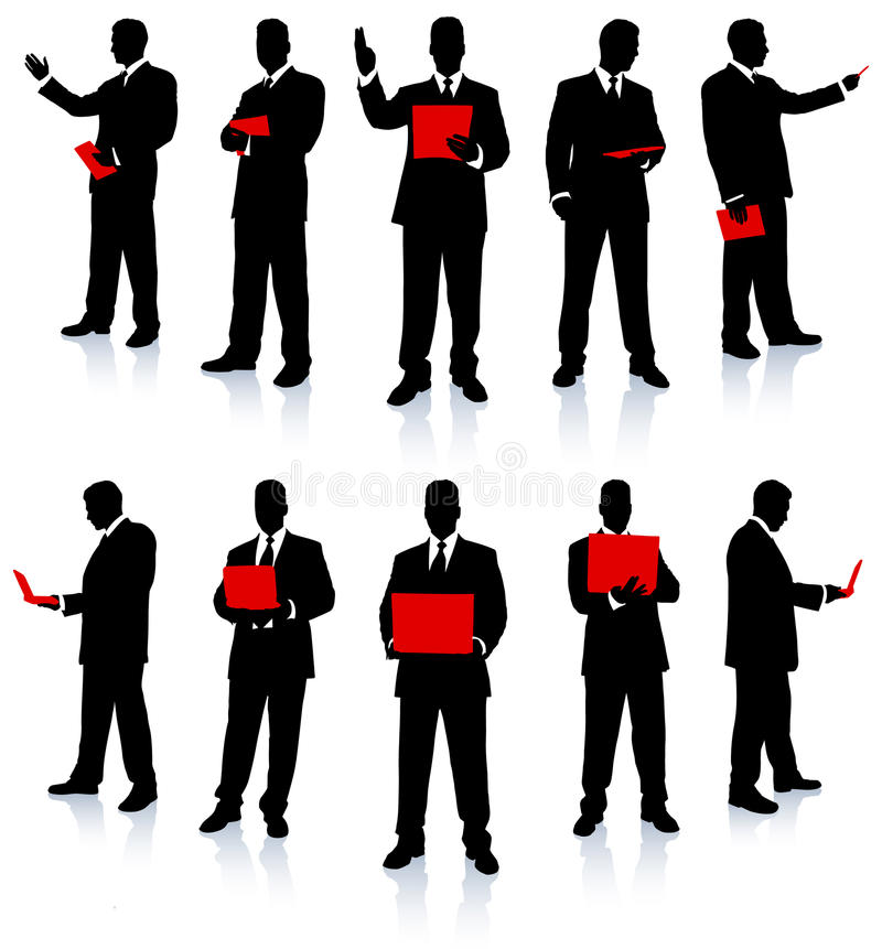 Businessman Silhouette Collection royalty free illustration