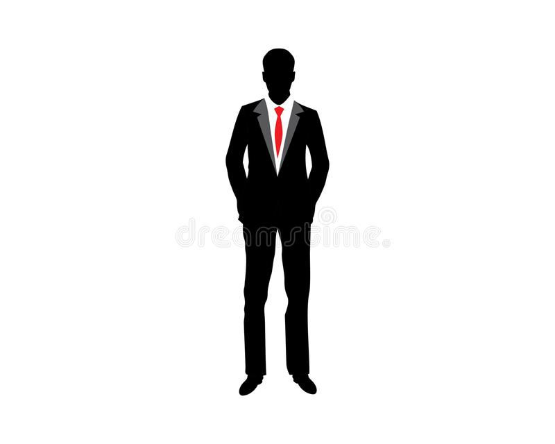 businessman silhouette icon vector stock vector illustration of