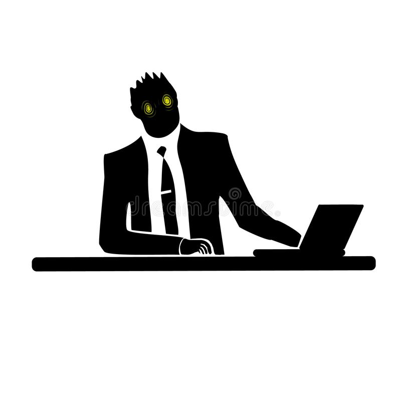 Businessman silhouette of a man. Preparing to celebrate Halloween. royalty free illustration