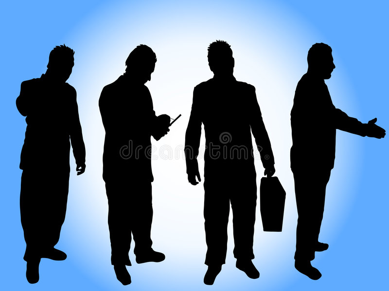 Businessman Silhouettes Royalty Free Stock Photos