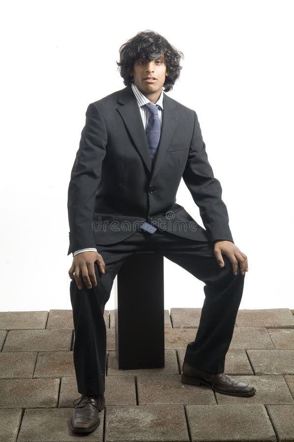 Businessman sitting royalty free stock photography