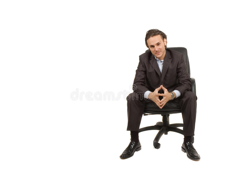 Businessman sitting royalty free stock photos