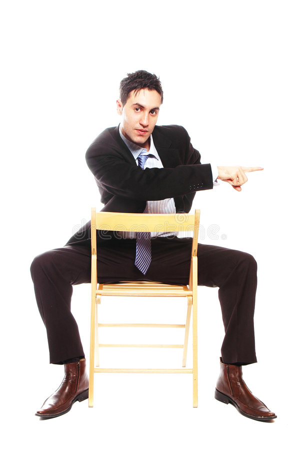 Businessman sitting stock image