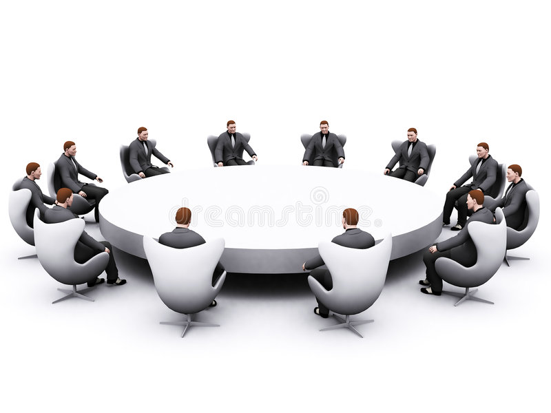 Businessman sitting around table royalty free stock images