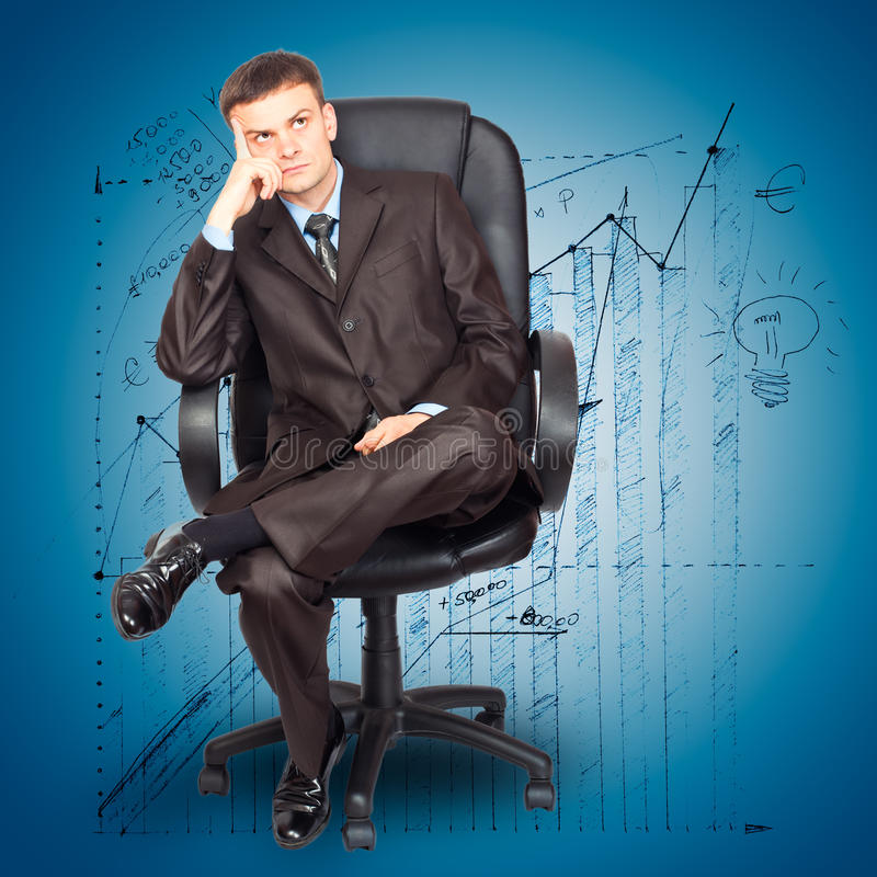 Download Businessman Sitting On Chair Stock Photo - Image: 21122168