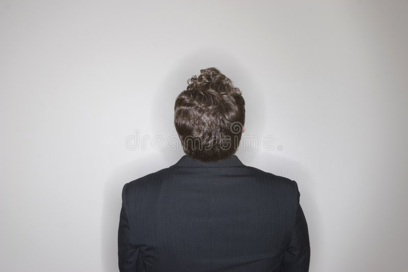 Download Businessman Sitting Looking Up Stock Images - Image: 1475894