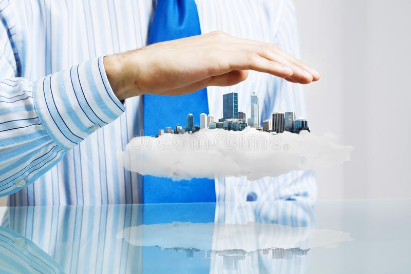 Property insurance and security royalty free stock images