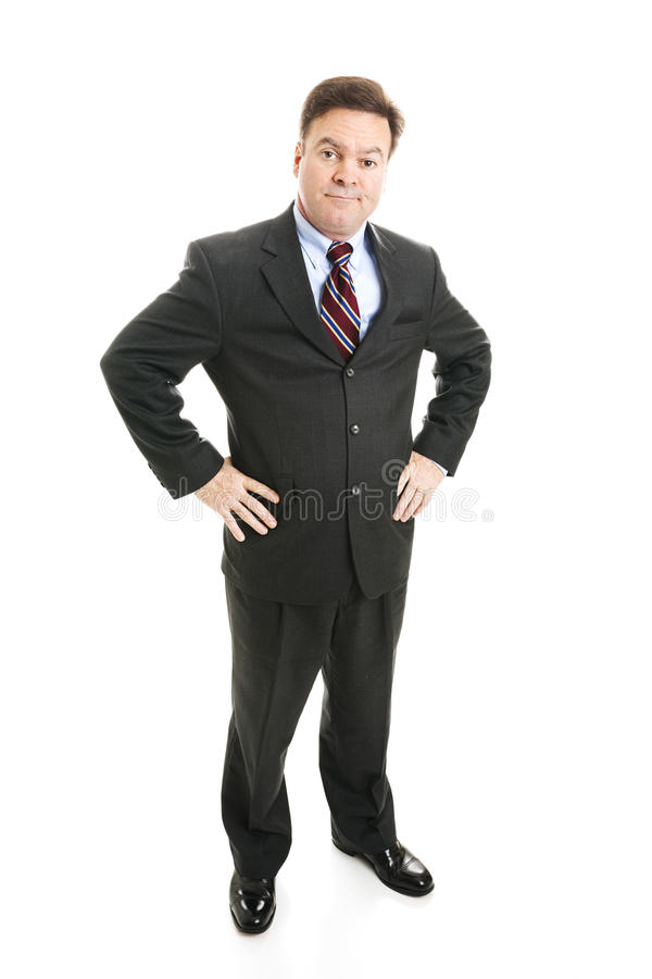 Businessman - Skeptical Boss royalty free stock photo