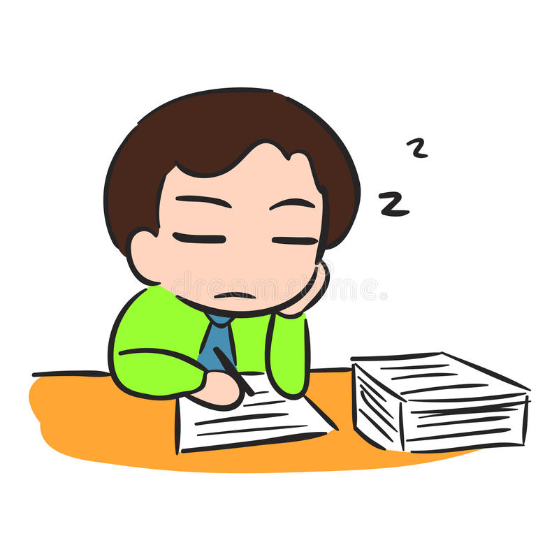 Businessman Sleep with low battery royalty free illustration