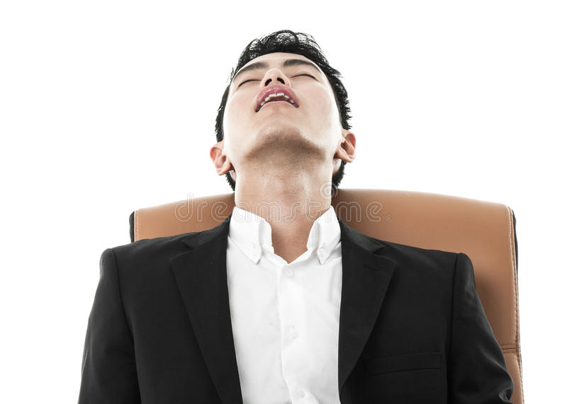 Download Businessman Sleeping On A Chair Stock Image - Image: 36707311