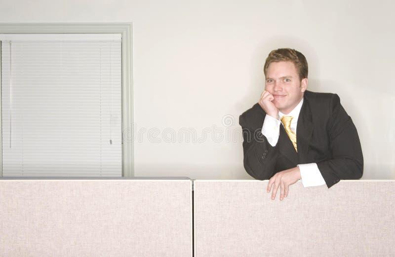 Businessman smiles stock photo