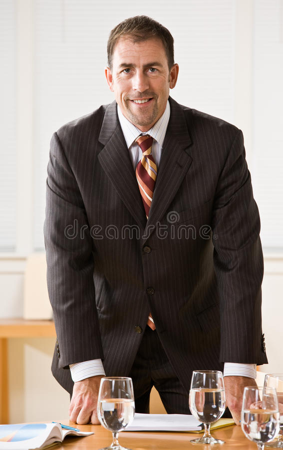 Businessman Smiling Royalty Free Stock Photos