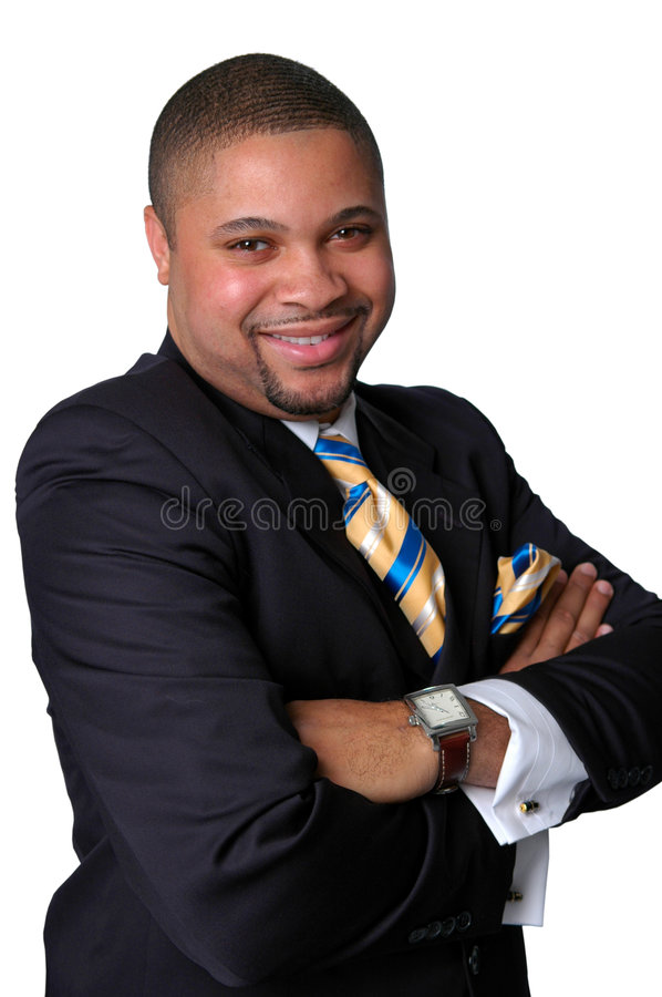 Businessman Smiling royalty free stock images
