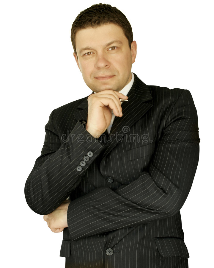 Download Businessman smiling stock photo. Image of background, business - 5210196