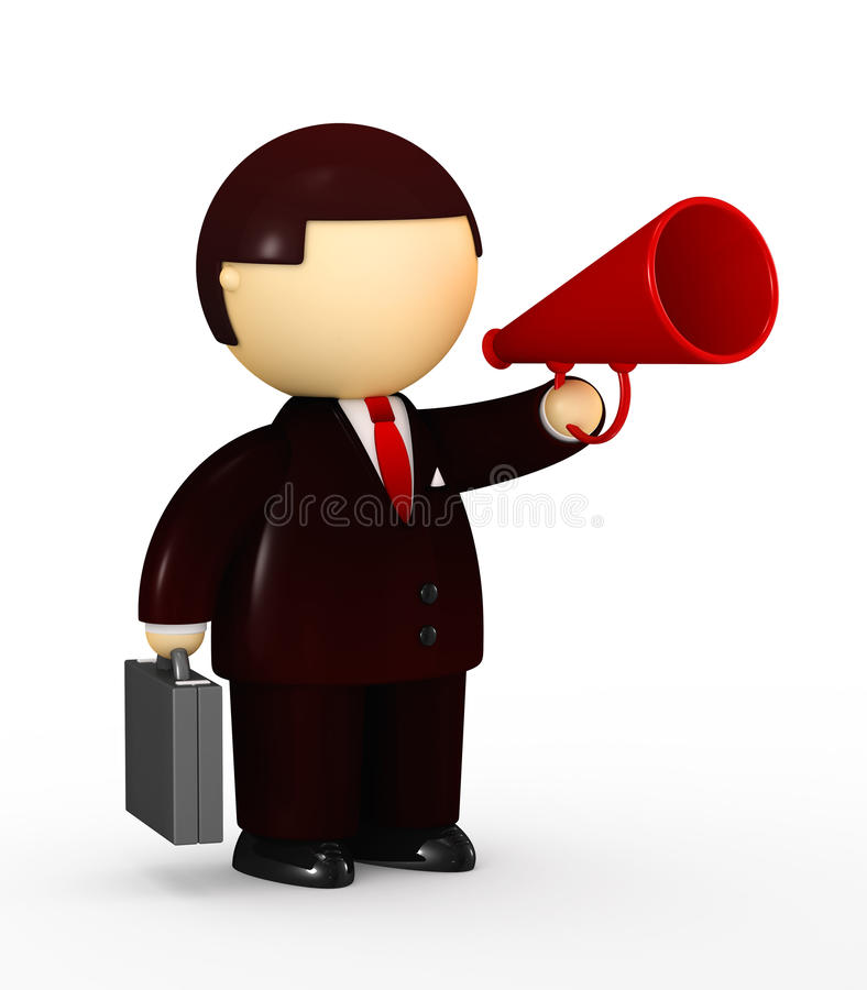Download Businessman Speaking In A Megaphone Stock Vector - Image: 13483210
